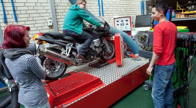 Motorrad Leistungsprüfstand